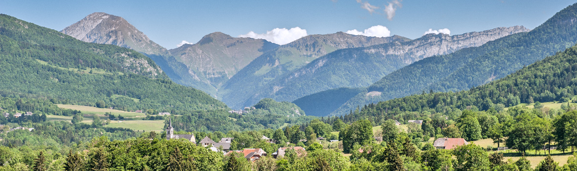 Lescheraines, a village in the french Alps